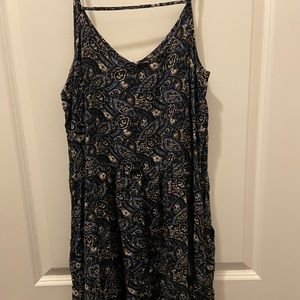 Blue flowered Forever 21 dress